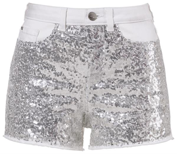 C&A_Clockhouse_Jeans-Shorts in Glitzer-Optik_Silber