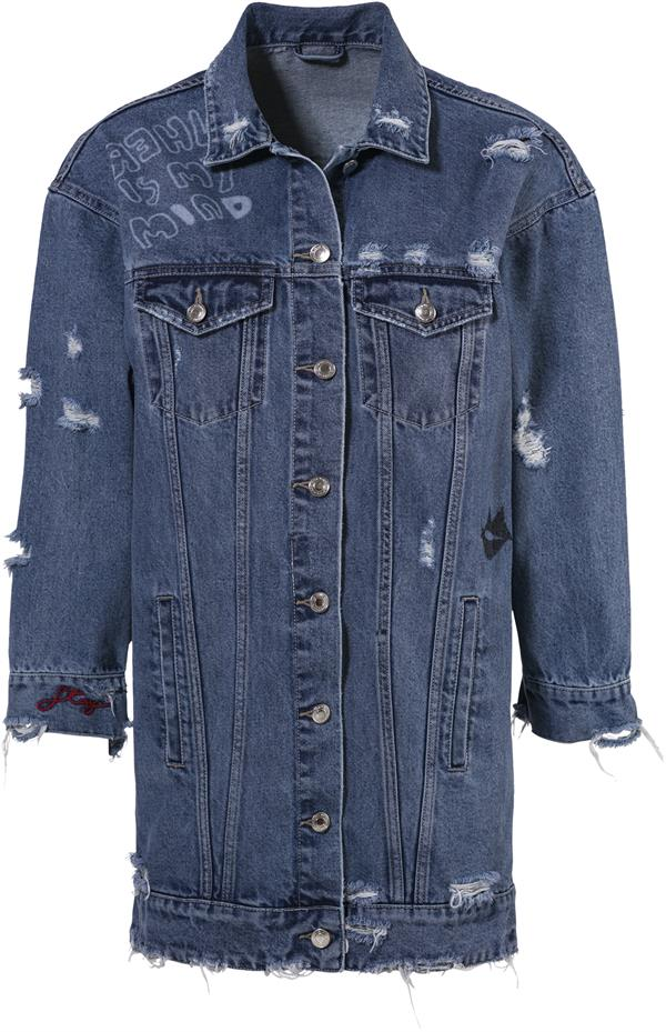 C&A_Clockhouse_Jeansjacke Oversize Destroyed mit Print
