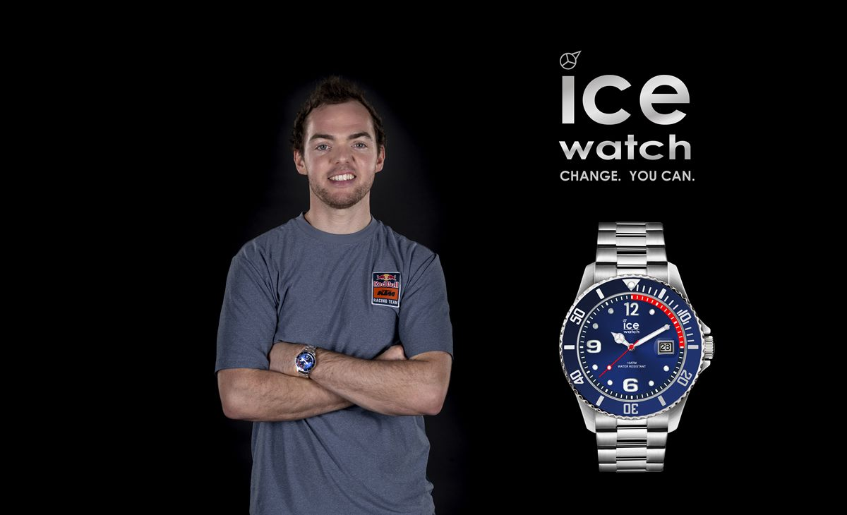 Matthias Walkner mit Ice-Watch | ICE steel