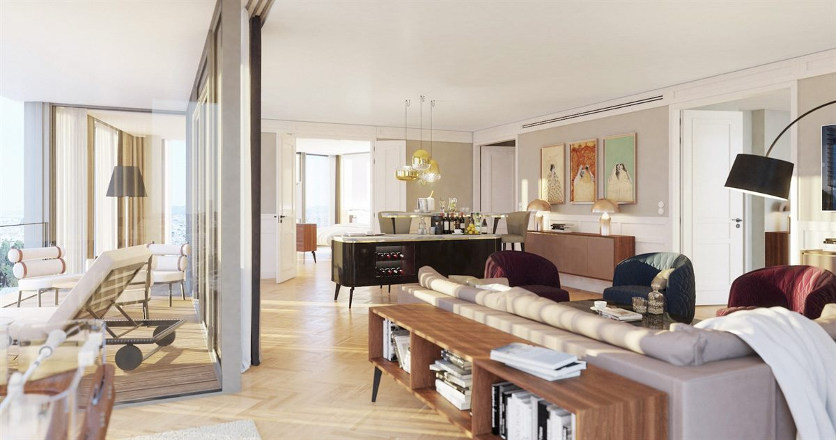 Penthouse Suite im Andaz Vienna Am Belvedere (Rendering)