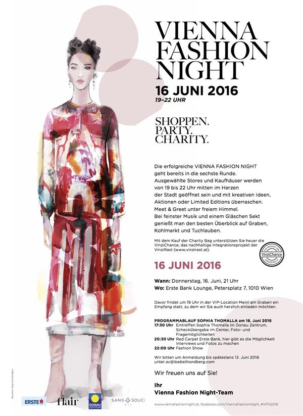 Einladung Vienna Fashion Night 2016
